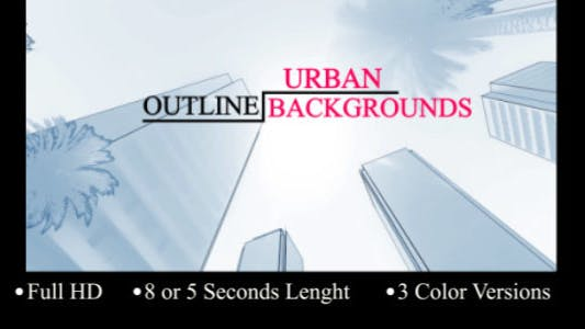 Thumbnail for Urban Outline Backgrounds