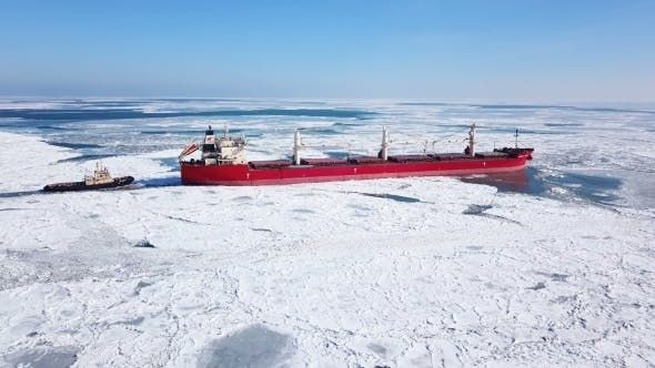 Thumbnail for The Ship Sails Through the Sea Ice in the Winter,