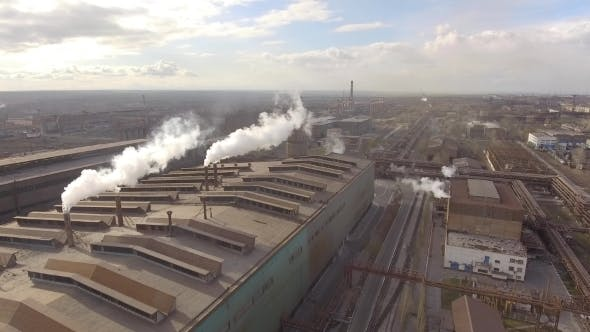 Thumbnail for Aerial View of Industrial Steel Plant