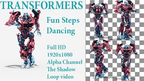 Cartoon Fun Robot Steps