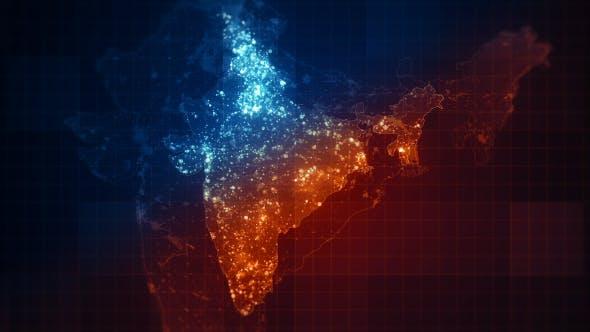Thumbnail for Pack India Maps Night Lighting 4K