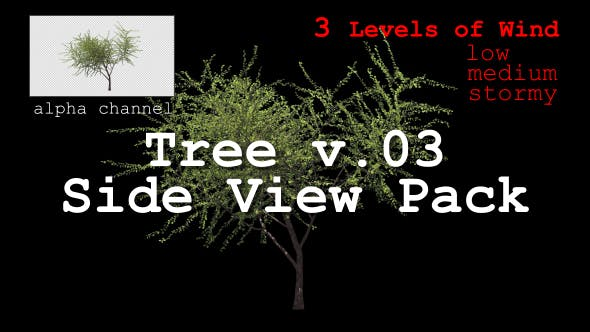 Thumbnail for Tree v. 03 Side View Pack