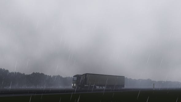 Thumbnail for Truck and Rain