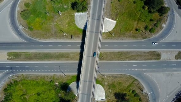 Thumbnail for Aerial View Of Highway Interchange