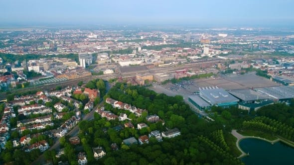 Thumbnail for City Municipality of Bremen Aerial FPV Drone Footage.