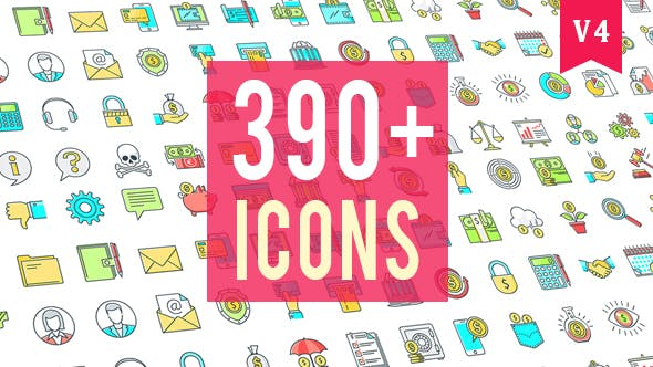Thumbnail for Icons Pack 390 Animated Icons