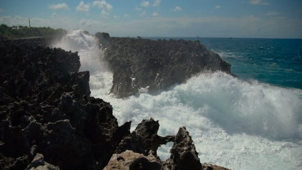 Thumbnail for Powerful Waves Breaking Against the Rocky Shore