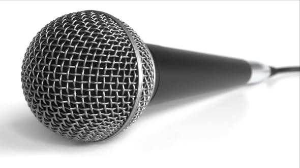 Thumbnail for Microphone Against White Background