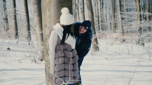 Thumbnail for Couple in the Winter Forest