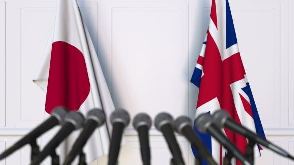 Thumbnail for Flags of Japan and The United Kingdom at International Press Conference