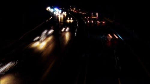 Night Traffic on Highway in Germany