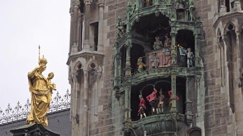 The Historic Glockenspiel at Marienplatz, Munich