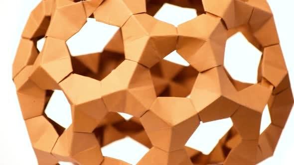 Close Up Modular Origami Ball.