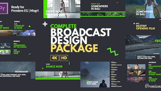 Complete Broadcast Design Package Essential Graphics | Mogrt