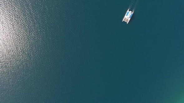 Thumbnail for Lone Sailboat on the Sea Surface