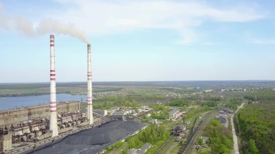 Thumbnail for Industrial Power Plant With Smokestack