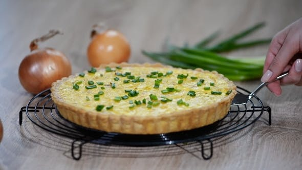 Thumbnail for French Tart with Onions and Cheese, Food