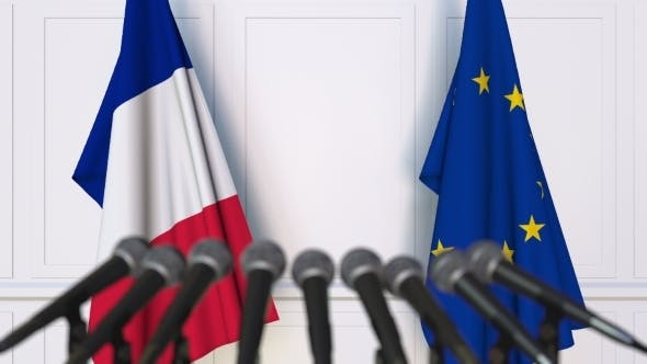 Thumbnail for Flags of France and the European Union at International Press Conference