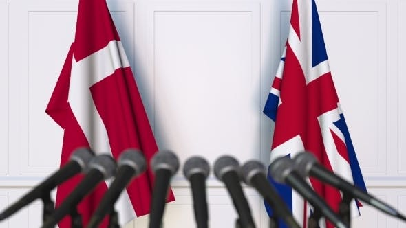Thumbnail for Flags of Denmark and The United Kingdom at International Press Conference