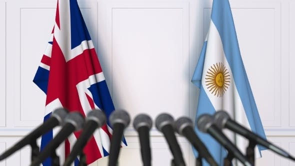 Thumbnail for Flags of the United Kingdom and Argentina at International Press Conference