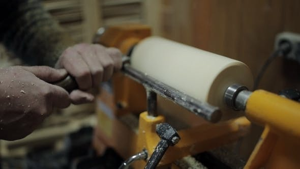 Thumbnail for The Carpenters Hand Processes the Wooden Part