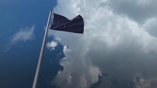Alaska State Flag Waving 2K