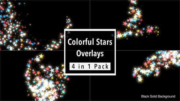 Thumbnail for Colorful Stars Overlays Pack