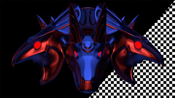 Thumbnail for Horus And Anubis Heads VJ Loop