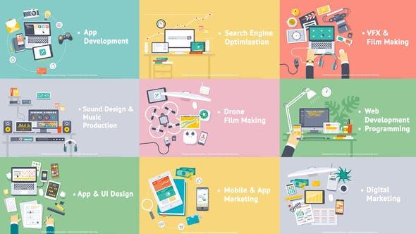 Thumbnail for Creative Process - Flat Design Concepts