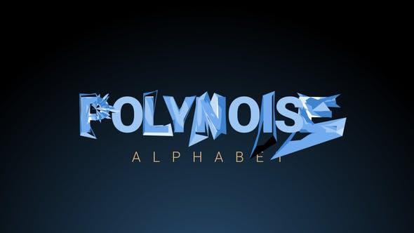 PolyNoise Alphabet - Police de caractères animée