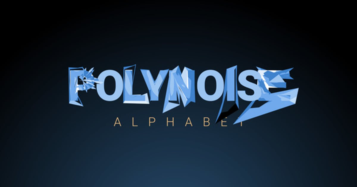 Download PolyNoise Alphabet - Animated Typeface by Creattive