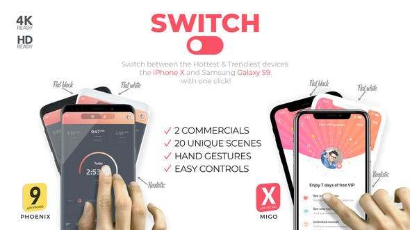 Switch: phoneX & s9 App Promo