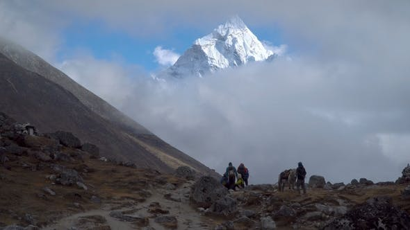 Thumbnail for Tourist and Porter in the Himalayas