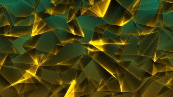 Thumbnail for Special Gold Triangles in Green Background