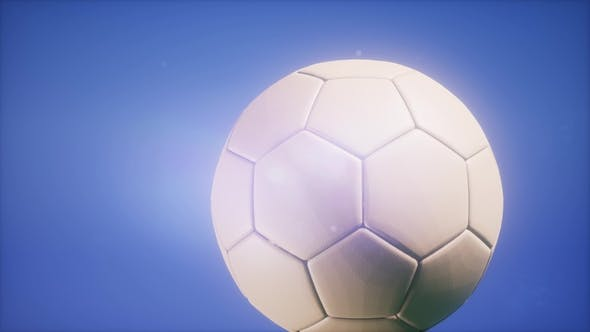 Thumbnail for Soccer Ball on Blue Sky Background