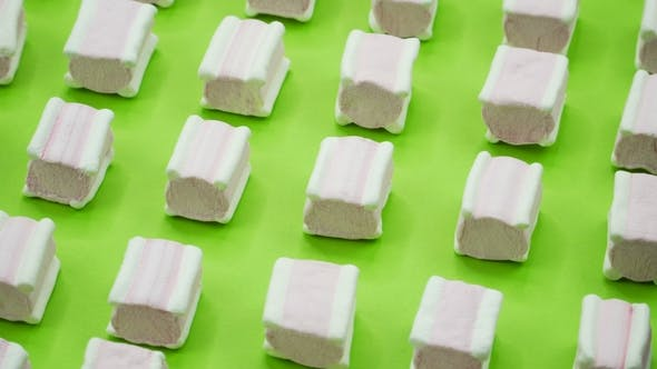 Thumbnail for Bright and Colorful Marshmallows   Shot on a Green Background