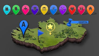 3D Map Markers