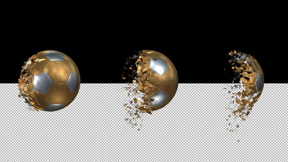 Thumbnail for Golden Soccer Ball Transforming