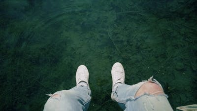 Chilling Next To Lake with Crystal Water