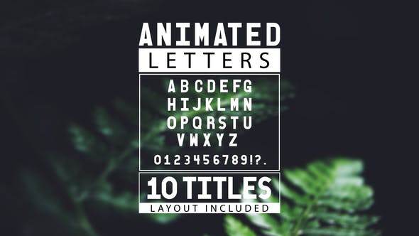 Thumbnail for Animated Letters & 10 Titles Layout