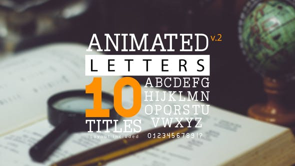Thumbnail for Animated Letters & 10 Titles Layout 2