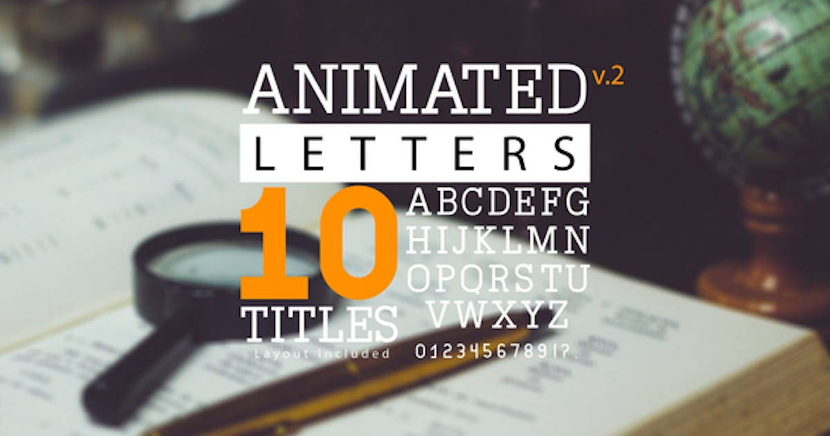 Download Animated Letters & 10 Titles Layout 2 by PLANKY