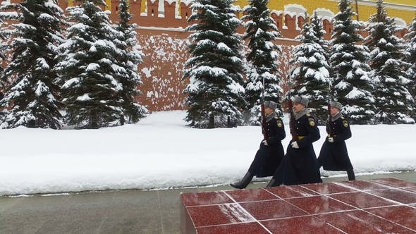 Thumbnail for Divorce Guard at the Eternal Flame in Moscow. Russia