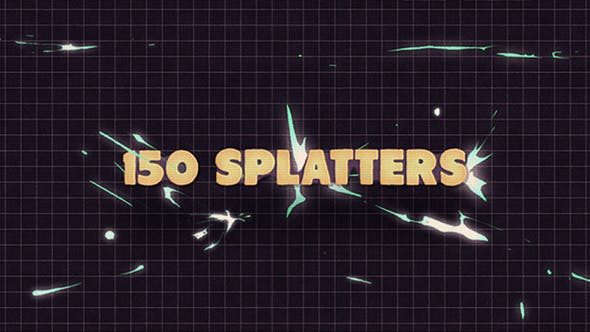 Thumbnail for 150 Splatter Animations + Opener
