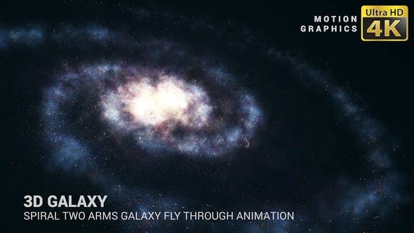 Thumbnail for 3D Galaxy | Spiral Two Arms Galaxy Animation