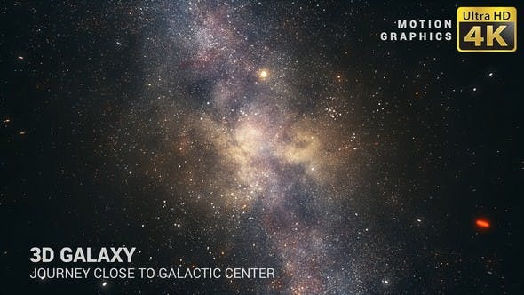 3D Galaxy | Journey Close To Galactic Center 4K