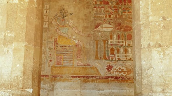 Thumbnail for Ancient Egypt Images on Wall in Luxor,