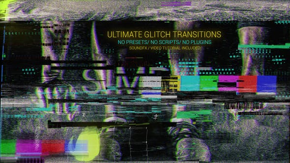 "1,016 ""glitch"" Video Templates Compatible with Adobe After Effects"