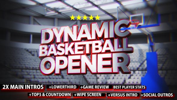 Thumbnail for Dynamic Basketball Opener/Intro