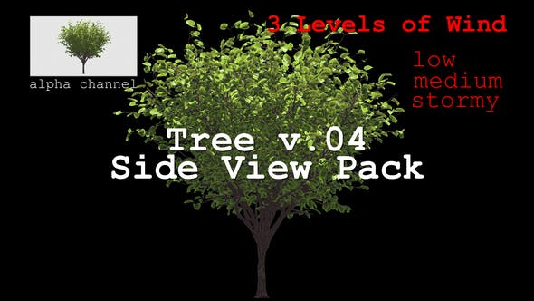 Thumbnail for Tree v. 04 Side View Pack